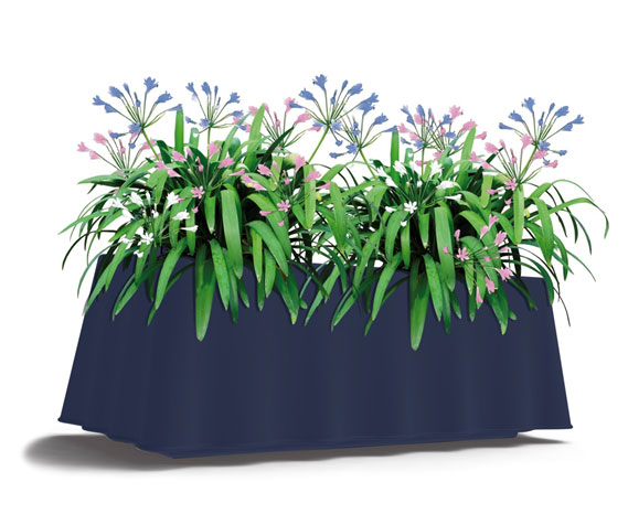 Brezza rectangular self-watering planter - Blue