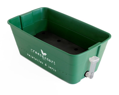 Large Green GreenSmart self-watering vegetable & herb pot